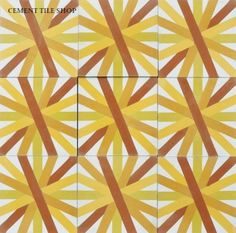 Cement Tile Shop - Handmade Cement Tile | Guillermo & Tania Collection - Asterdisc 2A. Call (800) 704-2701 for more information.