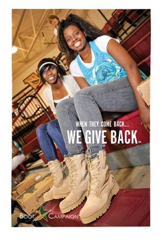 America, get YOUR boots on!  http://www.bootcampaign.com/