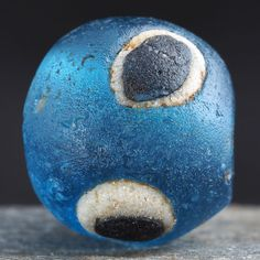 *!* Ancient MEDIEVAL ISLAMIC GLASS EYE BEAD ø 13,4 mm. 900–1200 AD. Middle East