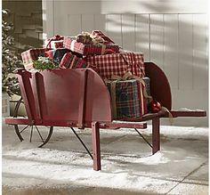 Christmas Wheelbarrow.
