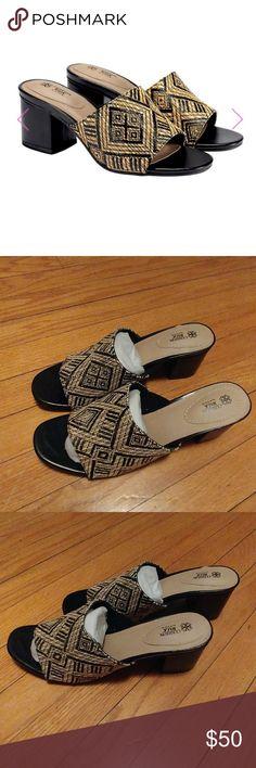 6466b259df5 NWT Cushion Walk Woven Slide Sandals  BLACK The palm chic collection of  cushion walk is