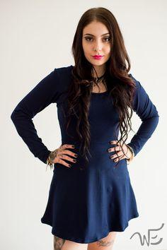 Vestido Azul Marinho Wear Ever