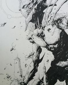 Flying squid and a dead god. Detail of a panel from, 7 To Eternity. @rickremender #7toeternity #imagecomics