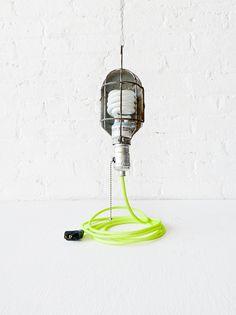 Etsy Vintage Industrial Cage Light Trouble Work Lamp by EarthSeaWarrior