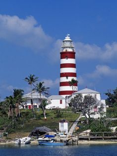 Lighthouse at Hope Town on the Island of Abaco, the Bahamas Photographic Print by William Gray at Art.com