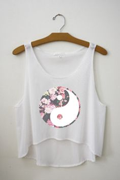 Ying Yang Crop Top by TopsByTai on Etsy