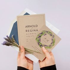 Stop and smell the lavender with @ameliastev rustic design #lavender #paper #print #rustic #rusticwedding #craft #kraft #craftpaper #weddinginvitation #weddinginvitations #purple #green #wedding #design