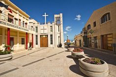 Square in the Center of Pozzallo, Sicily