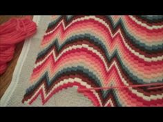 Stitch Your Florentine/Bargello Needlepoint Flat by Lorna Pollock - YouTube