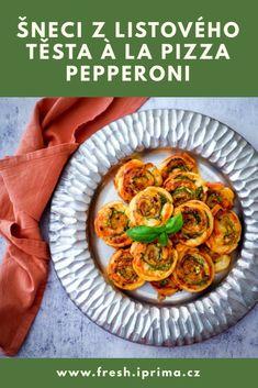 #listovetesto #pizza #chutovka #recept #primafresh Pepperoni, Mozzarella, Pesto, Fresh