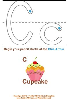 Learning to Write Trace Letter C for Toddlers and Preschool