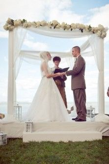 Wedding Ceremony Decor - LOve the lanterns and tulle