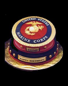 Motivated Marine Corps Birthday Cake