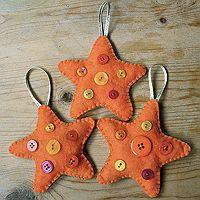 Orange Star Christmas Decoration