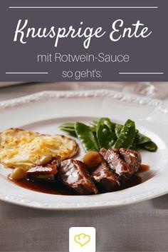 Knuspirge Entenbrust mit Rotwein-Sauce - der Klassiker auf der Weihnachts-Festtafel!