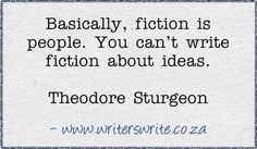 But you can write about people learning about, understanding, coping with, fighting against, and thinking up ideas. :)