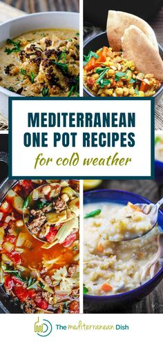 These are some of the best cold weather Mediterranean One Pot Recipes! Comfort food at its finest with these easy one pot meals for your family to enjoy! One Pot Dinners, Easy One Pot Meals, Mediterranean Dishes, Everyday Food, Weeknight Meals, Food Dishes, Entrees, Meal Planning, Food To Make