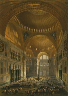 Aya Sofya Mosque, Istanbul, as recently restored by order of H.M. the Sultan Abdul Medjid / from the original drawings by Chevalier Gaspard Fossati, 1852
