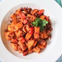 Vegan Chorizo Sweet Potato Hash {Gluten Free, Paleo}