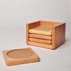 木製コースター 木製コースターセット バー用コースター 可愛い和風式コースター ブナの木コースターセット仕入れ、問屋、メーカー・生産工場・卸売会社一覧