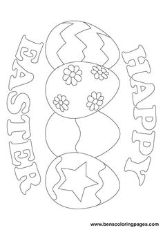 Happy Easter Coloring Pages Printable Inspirational Free Easter Colouring Pages Fargelegging Free Easter Coloring Pages, Easter Coloring Sheets, Easter Colouring, Cute Coloring Pages, Coloring For Kids, Coloring Books, Free Coloring, Colouring In, Easter Projects