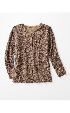 I wear cardigans to work all the time--like the leopard print.
