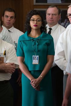 "Taraji P. Henson wears The BUMMI as Katherine Johnson in ""Hidden Figures"" Kevin Costner, Patriotic Movies, Katherine Johnson, Taraji P Henson, Octavia Spencer, Jackson, Hidden Figures, Film Serie, African American Women"