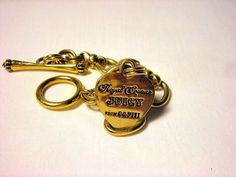 Juicy Couture Charm Bracelet Chain Gold Tone #JuicyCouture #Chain