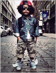 Style Jr. crianças com muito estilo e atitude.