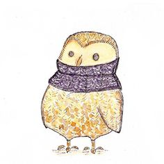 'Owl in a Knit Cowl' by Kristy Jarvis