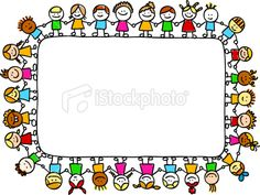 Cute doodle kids - banner
