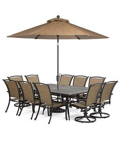 Paradise Outdoor Patio Furniture, 11 Piece Set (84 X 60 Dining Table, 6