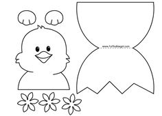 biglietti-pasqua-pulcino-uovo Easter Activities For Kids, Easter Crafts For Kids, Preschool Crafts, Easter Art, Hoppy Easter, Butterfly Coloring Page, Easter Colouring, Valentine Day Cards, Spring Crafts