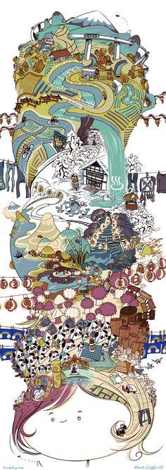 Rebecca Clements Draws 'Regular Show' Psychedelia, Happy Airships And The Cat Alphabet [Art] Dream Fantasy, Sabbatical, Alphabet Art, Logo Design, Graphic Design, Art Logo, Book Illustration, Drawing S, Art Photography