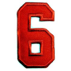 Red-Number-6-SIX-Shirt-Hat-Sew-or-Iron-On-Patch-3-inch.jpg (743×743)
