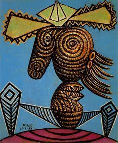 Pablo Picasso, Figure  Feminine au Chapeau, assise sur une chaise, 1938
