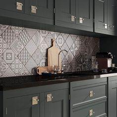 decorative tiles for kitchen decorative tile kitchen epic tile concept on small home decoration idea Kitchen Tiles, Kitchen Design, Kitchen Decor, Kitchen Sink, Bakers Kitchen, New Kitchen, Victorian Tiles, Folk Victorian, Victorian Interiors
