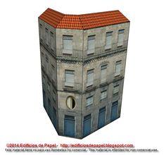 Edificios de Papel: Maqueta de Papel 1487: Edificio Espada, serie Oure...