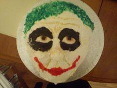 Joker Cake - the joker from batman cake it was 3-d,