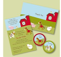 Barnyard Farm Animal Baby Shower Invitation by LittlePrintsParties, $20.00