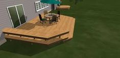 Image result for built in deck seating
