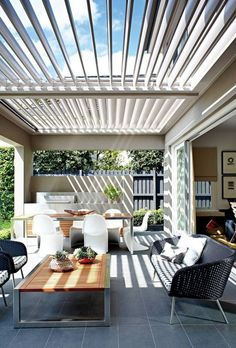 Pergola Ideas Pergola Ideas Ideas Ideas australia Ideas backyard Ideas covered Ideas diy Ideas front porch Ideas modern Ideas on a budget 10 Alfresco ideas + tips - Katrina Chambers Outdoor Living Rooms, Outdoor Dining, Outdoor Decor, Outdoor Lighting, Outdoor Tiles, Pergola Lighting, Outdoor Chairs, Rustic Outdoor, Outdoor Lounge
