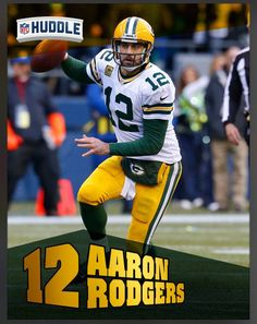 Aaron Rodgers Green Bay Packers Grid Iron Greats Insert Card 2016 Topps HUDDLE