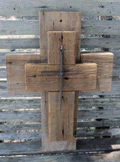 wood cross wall cross unique wall crosses by LARusticWoodworks