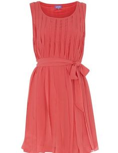 peach dress...perfect for spring with nude heels or gold shoes with gold accessories <3