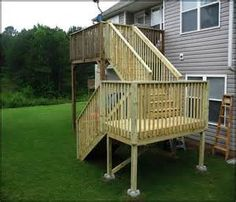 Two Story Decks With Stairs | Main Deck And Garage | Deck Stairs |  Pinterest | Decking, Deck Stairs And Curb Appeal