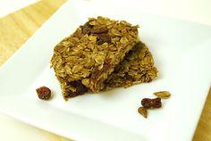 Cocoa Cranberry Granola Bars sunbutter no bake