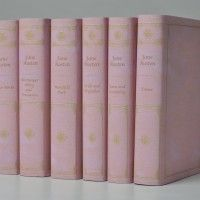 Pink Jane Austin Book Set from Juniper Books because all I want to do is sit by a roaring fire with a hot cup of tea and read....
