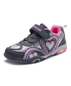 798b908702f4d2 Dream Seek Gray Pink Heart Light-Up Sneaker