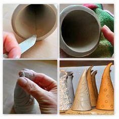 Schritt-für-Schritt-Anleitung über die Herstellung eines Keramik-Käferzipfels (ein Insektenhotel für Ohrenkneifer). Töpfern, Brennen im Brennofen